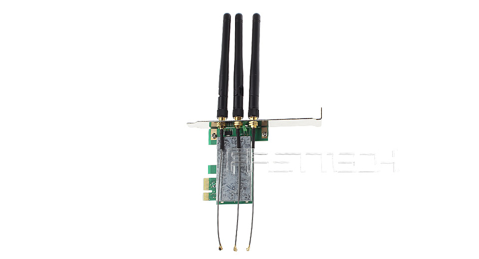 $8.74 WLAN Mini PCI-E to PCI-E Wireless Adapter w/ 3