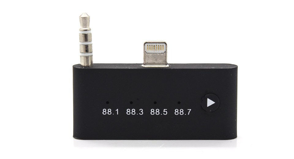 Apple Compatible 8-pin to 30-pin FM Audio Adapter