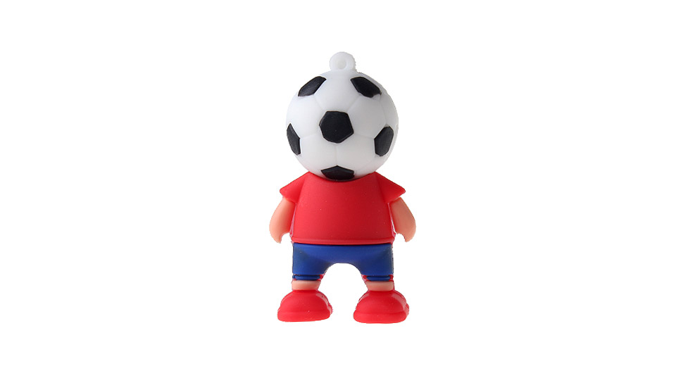 ZQR-1 64GB The World Cup Footballer Shaped USB 2.0 Flash Drive
