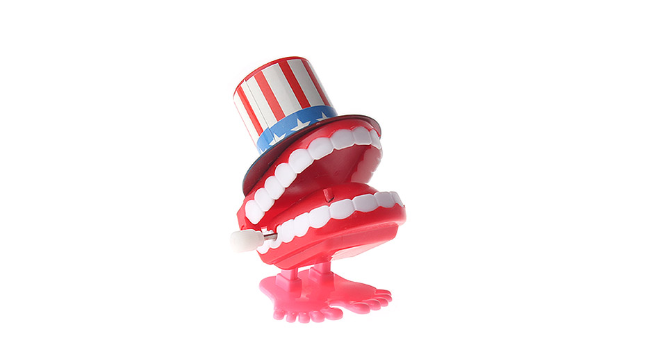 ABS Wind-up Chattering Teeth Toy
