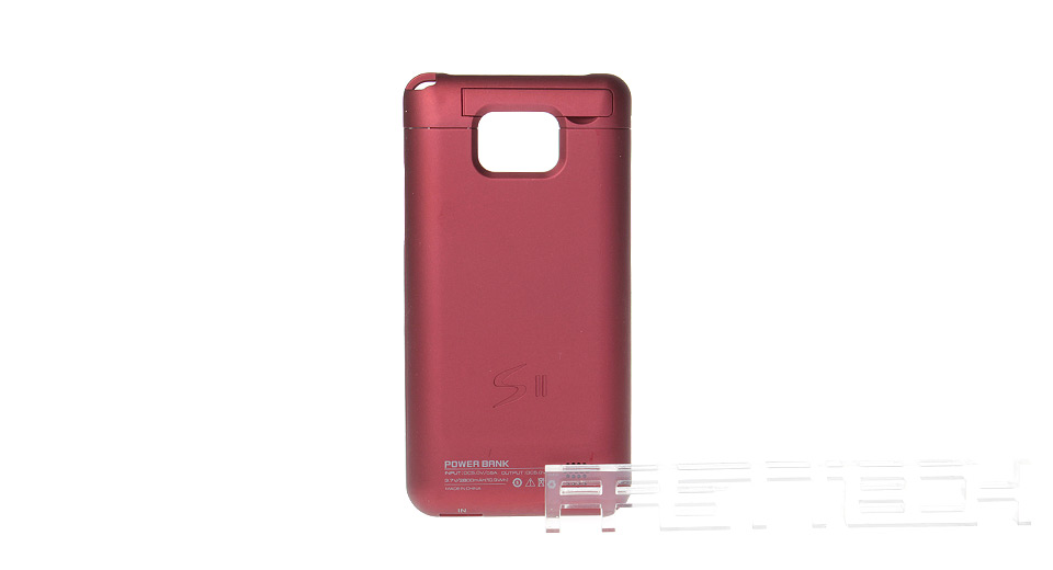 2800mAh Rechargeable External Battery Back Case for Samsung Galaxy S2 i9100