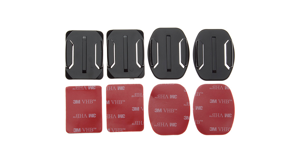 GP10 Square and Oval Camera Fixed Mounts w/ 3M Stickers for GoPro