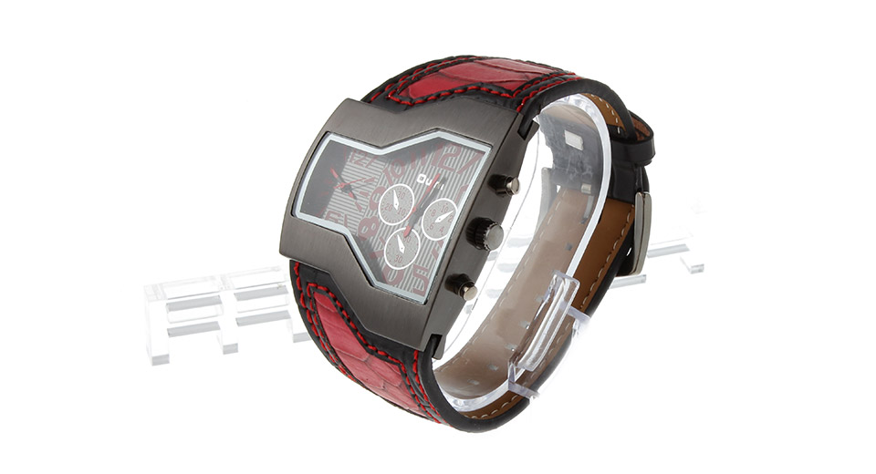 Oulm 1220 Mens Dual Movt Quartz Wrist Watch
