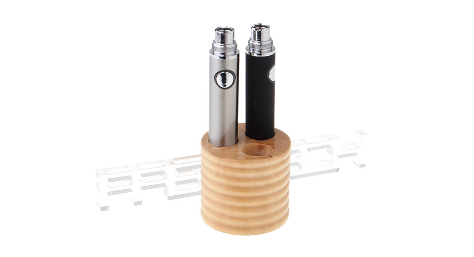 Wood 3-Hole Display Stand for Electronic Cigarettes
