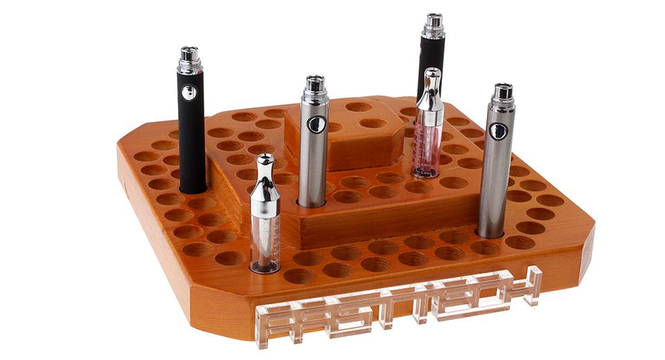 Wood 3-Layer 100-Hole Display Stand for Electronic Cigarettes