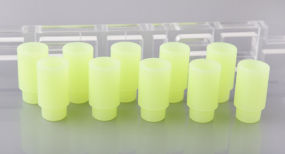 Glow-in-the-Dark Silicone 510 Drip Tip for SUBTANK Mini Clearomizer (10-Pack)