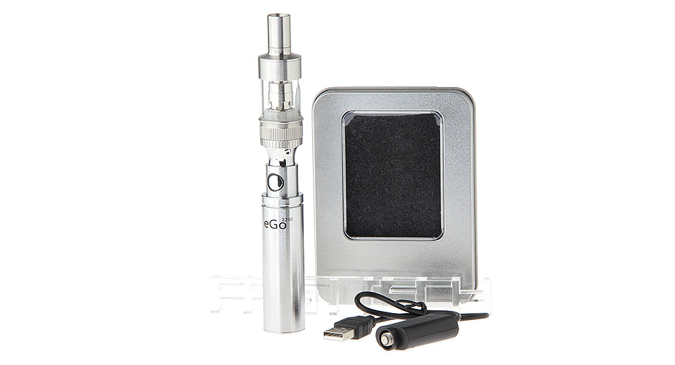 eGo 2200mAh Rechargeable E-Cigarette Battery w/ Atlantis Styled Clearomizer