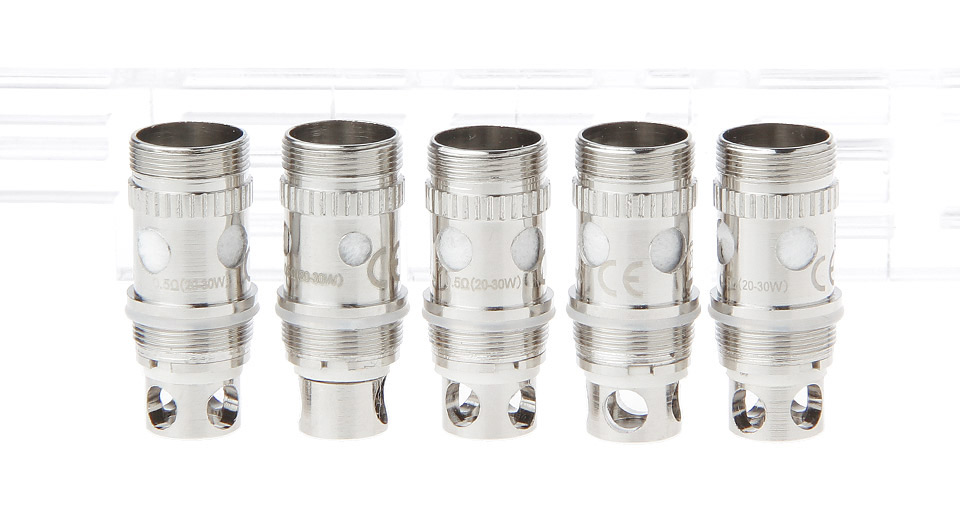Replacement Coil Head for Atlantis Mega / Atlantis V2 Clearomizer (5-Pack)