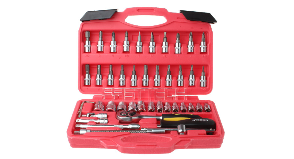 RDEER RTH-1646A Metric Sockets Wrench Kit (46 Pieces)
