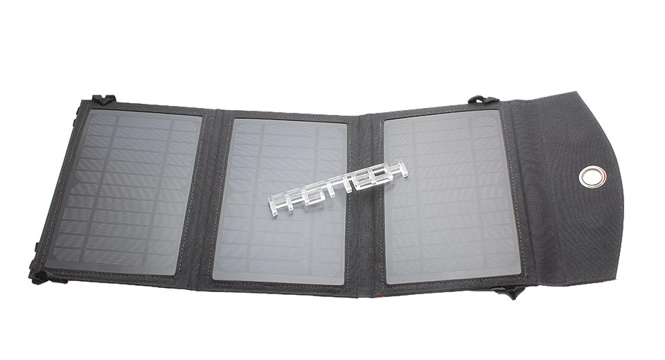 3-in-1 10W Folded Solar Power Panel Mobile Phone Charger