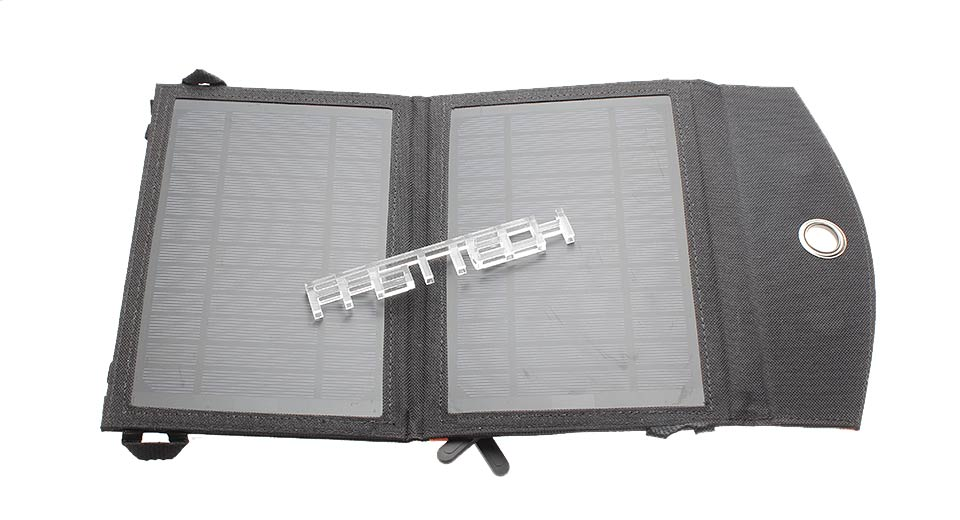 2-in-1 7W Folded Solar Power Panel Mobile Phone Charger
