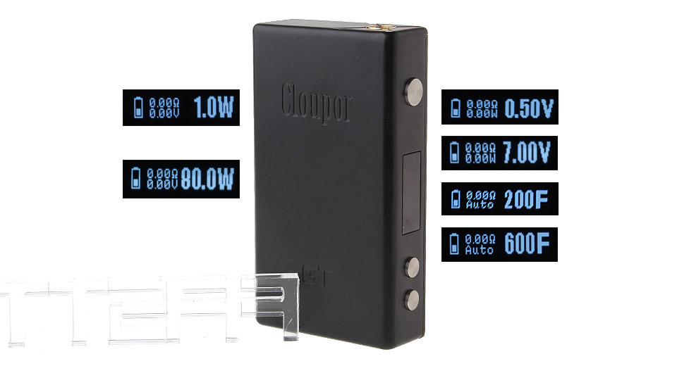Authentic Cloupor GT Temperature Control Variable Wattage / Voltage VW VV APV Box Mod