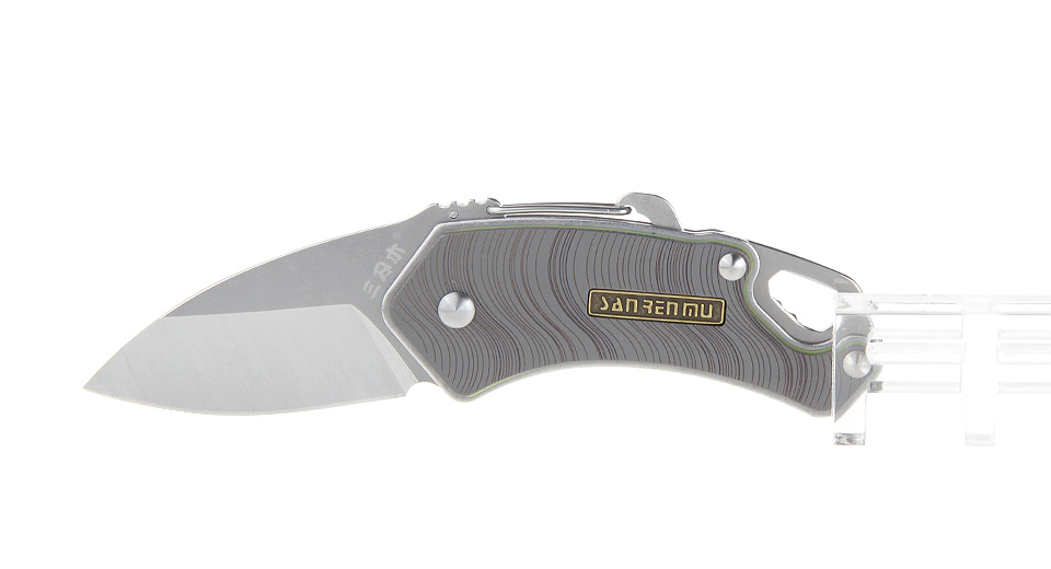 Authentic Sanrenmu 4077MUC-SKE Stainless Steel Folding Knife