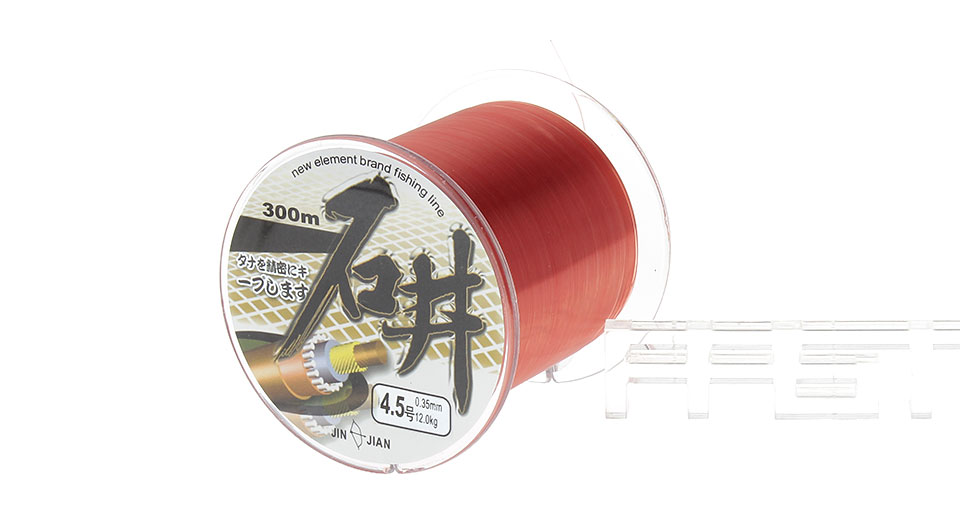 SHIJING 4.5# 0.35mm*300m High Power Nylon Fishing Line Spool