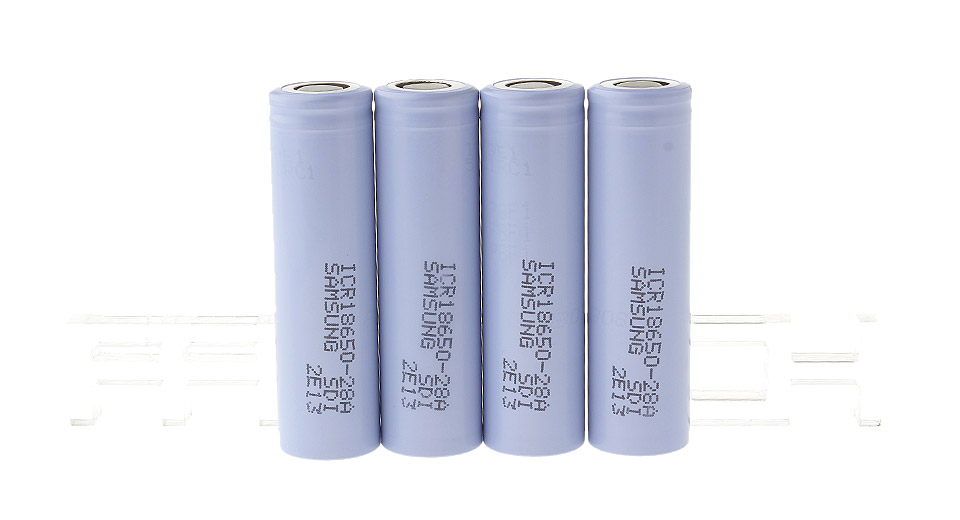 Authentic Samsung ICR 18650-28A 3.7V 2800mAh Rechargeable Lithium Batteries (4-Pack)
