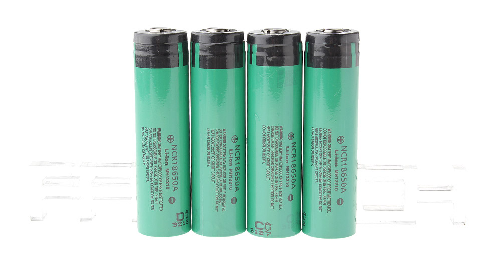 Authentic Panasonic NCR 18650A 3.7V 3100mAh Rechargeable Li-ion Batteries (4-Pack)