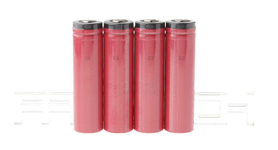 Authentic Sanyo 18650 3.7V 2600mAh Protected Rechargeable Li-ion Batteries (4-Pack)