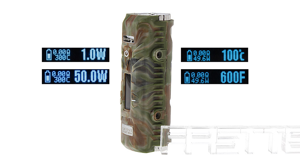 Authentic DOVPO Mini E-LVT 50W TC VW Variable Wattage APV Box Mod