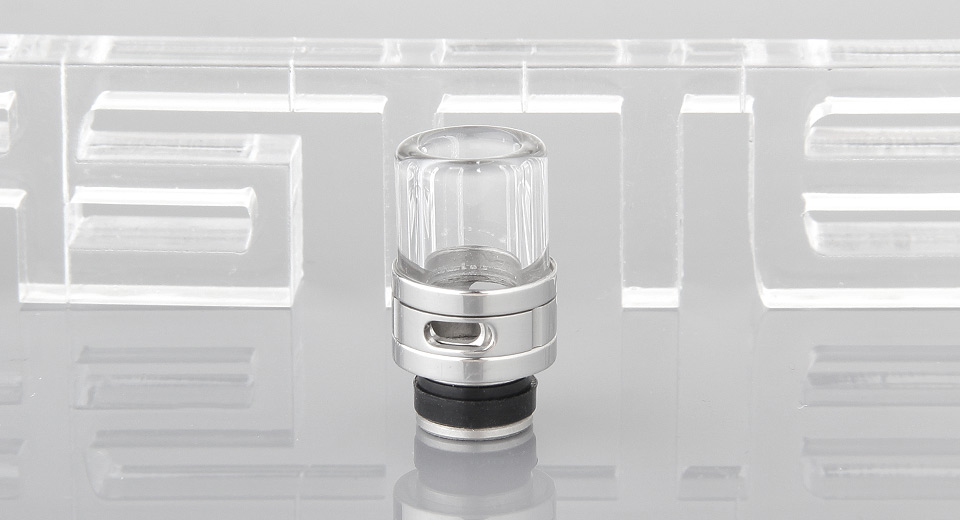 Stainless Steel + Glass Hybrid AFC 510 Drip Tip
