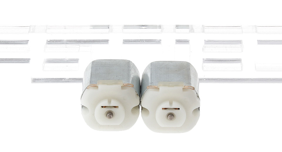 R130 DC 3V Double Shaft Micro Motor (2-Pack)
