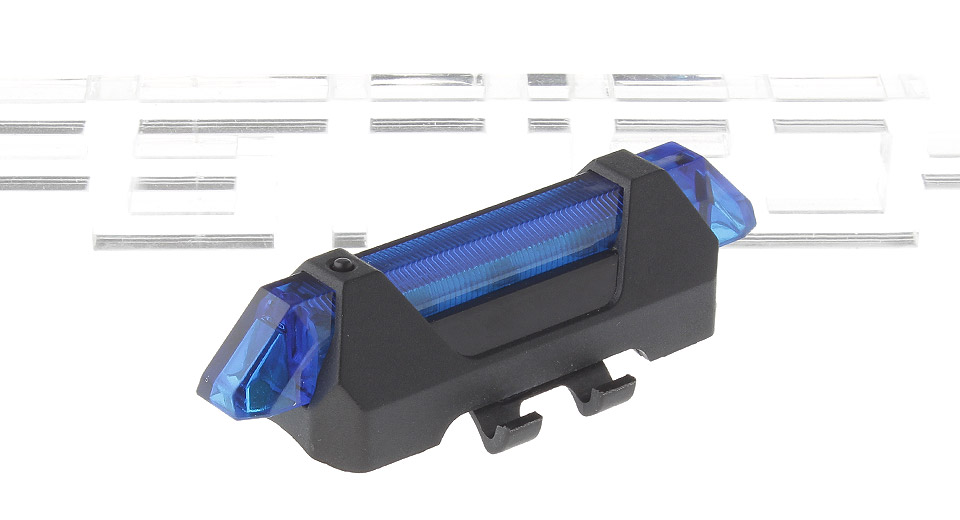 RAPID X AQY-093# USB Rechargeable 4-Mode 15LM Blue Light LED Bicycle Tail Light