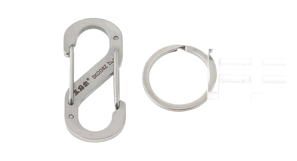 Authentic Sanrenmu SK008Z Mini Lucky Number Quick Release Carabiner Clip w/Keyring