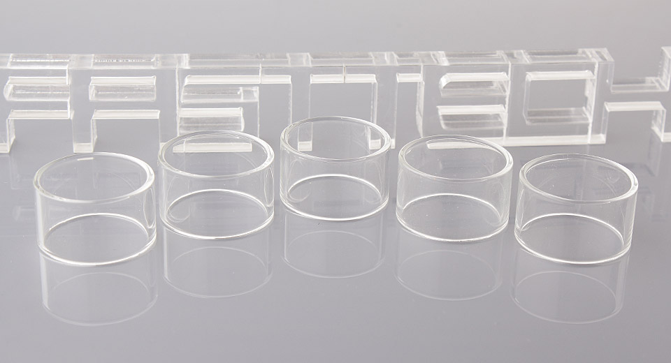 Replacement Glass Tank for Origen Genesis V2 RTA Atomizer (5-Pack)