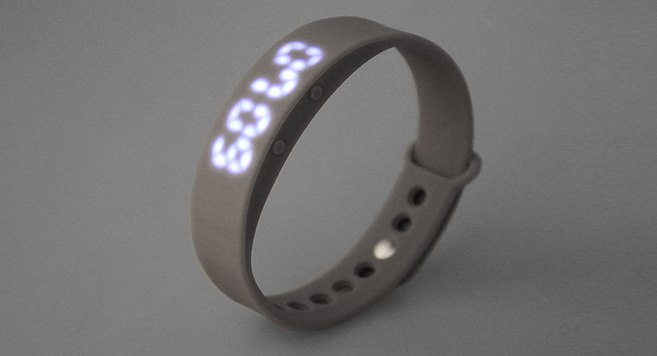W5 LED Screen Rechargeable Smart Wristband Watch