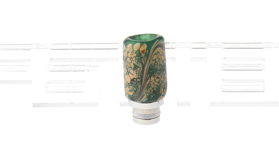 Colored Glass + Stainless Steel Hybrid 510 Drip Tip