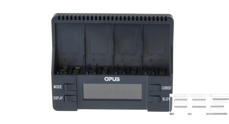 Authentic OPUS BT-C900 2.36 LCD 4-Slot Battery Charger for 9V Li-Ion/Ni-MH Battery