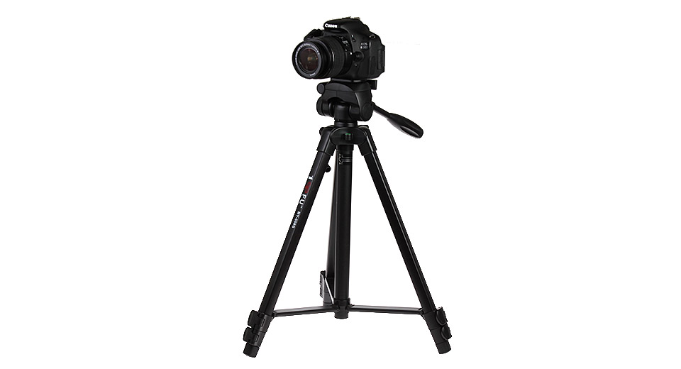 Authentic 100BFU BY-558S Aluminum Alloy Tripod Stand for Cameras