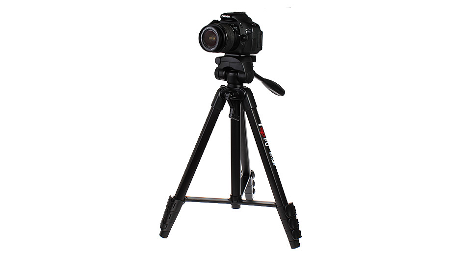 Authentic 100BFU BY-668 Aluminum Alloy Tripod Stand for Cameras