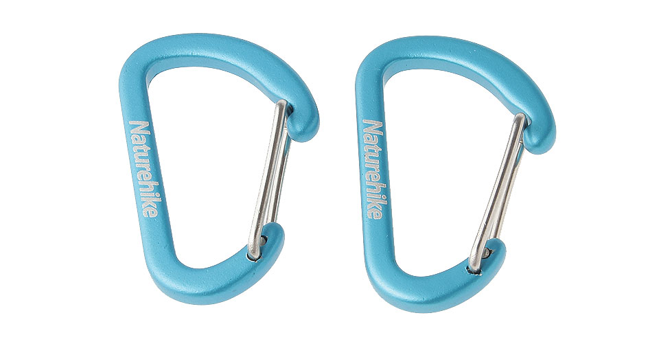 Naturehike-NH D-Shaped Fast Release Mini Locking Carabiner (2-Pack)