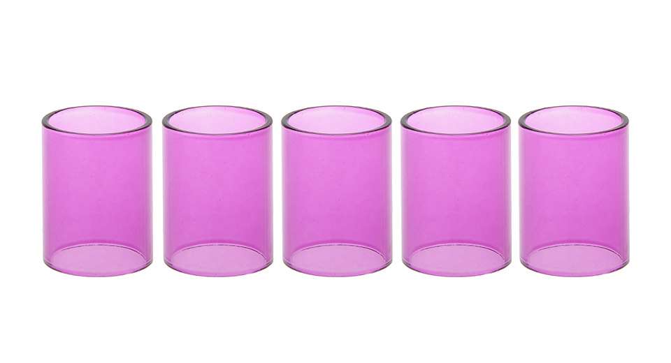 Replacement Glass Tank Section for Zephyrus Clearomizer (5-Pack)