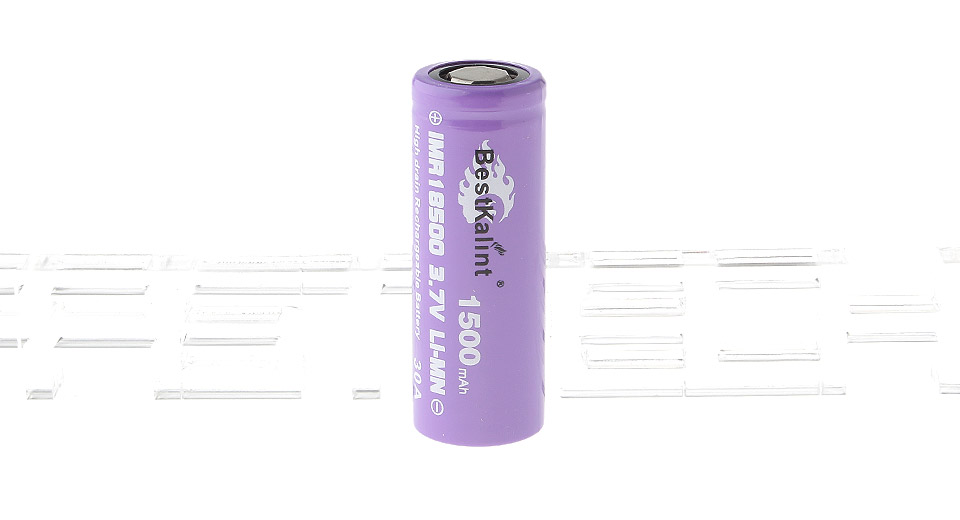 Authentic BestKalint IMR 18500 3.7V 1500mAh Rechargeable Li-Mn Battery