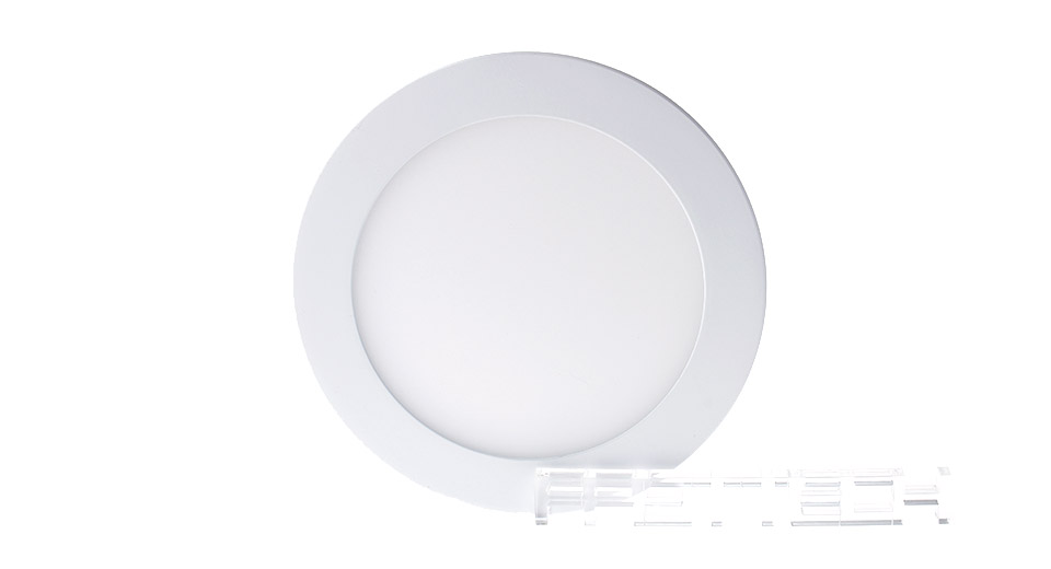 12W 60*2835 860LM 6500K Pure White LED Round Panel Light