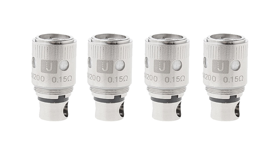 Authentic Uwell Crown Clearomizer Replacement Ni 200 Coil Head (4-Pack)