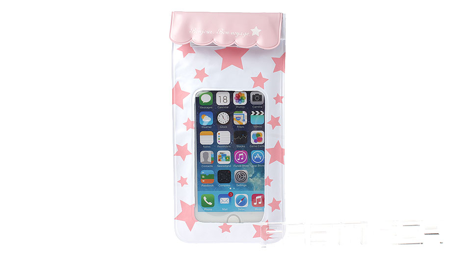 Pentacle Patterns Waterproof PVC Protective Case Bag for Cellphones within 5