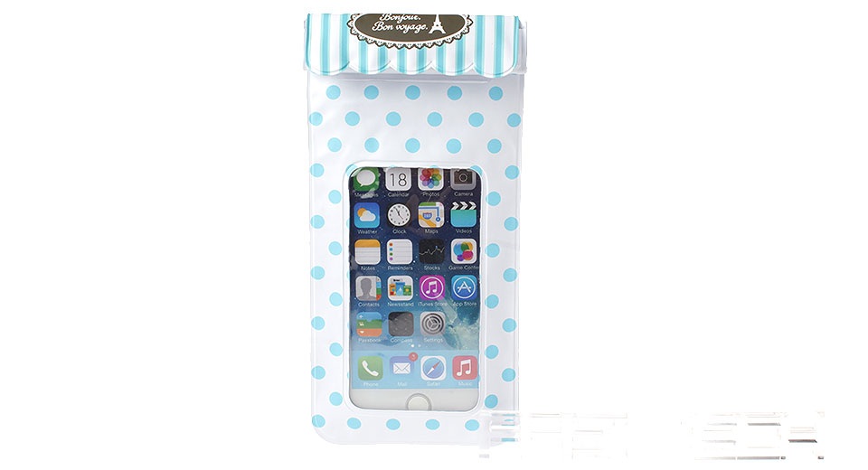 Polka Dots Patterns Waterproof PVC Protective Case Bag for Cellphones within 5