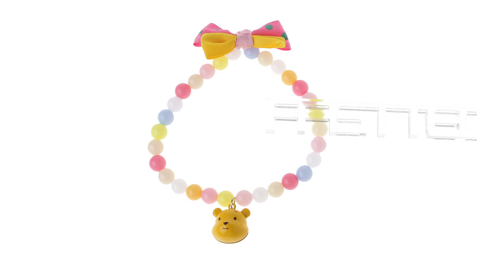 Butterfly Knot Styled Multicolor Beading Necklace for Pet (30cm)
