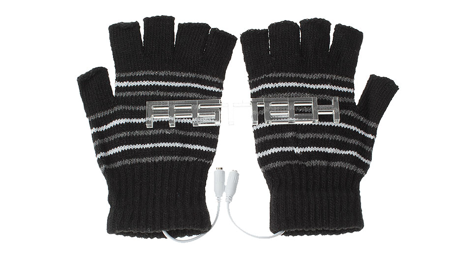 USB Heating Knitted Unisex Warmer Gloves (Pair)