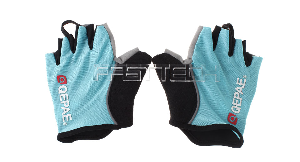 Authentic QEPAE QG055 Sports Cycling Half Finger Gloves (Size M)