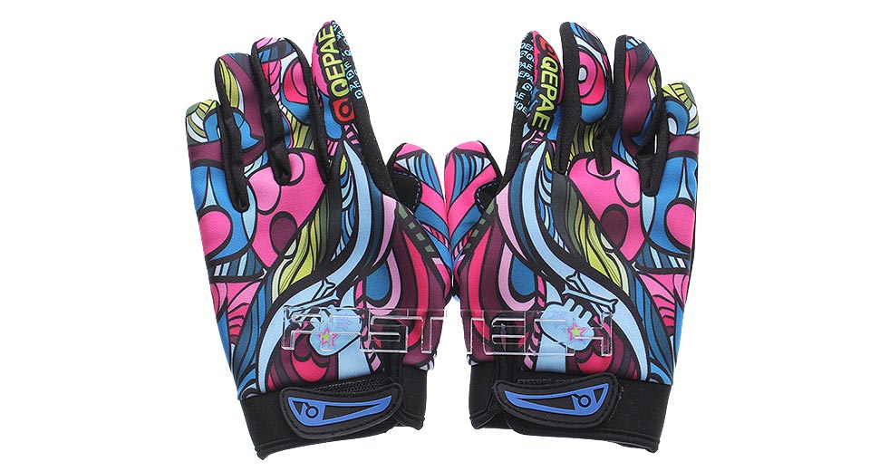 Authentic QEPAE QG7508 Sports Cycling Full Finger Gloves (Size L)