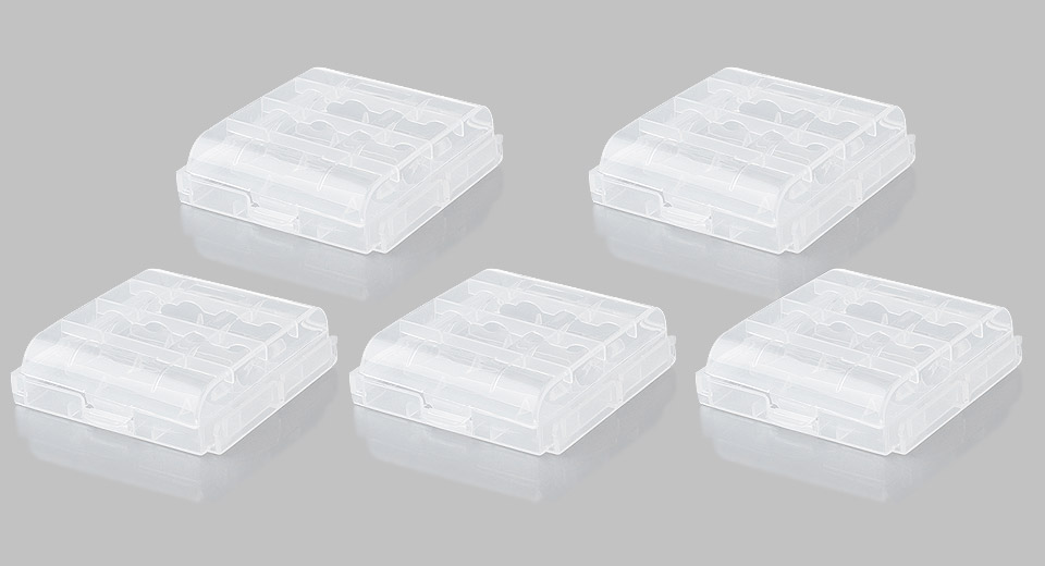 4*AA/AAA/14500/10440 Battery Protective Storage Case (5-Pack)