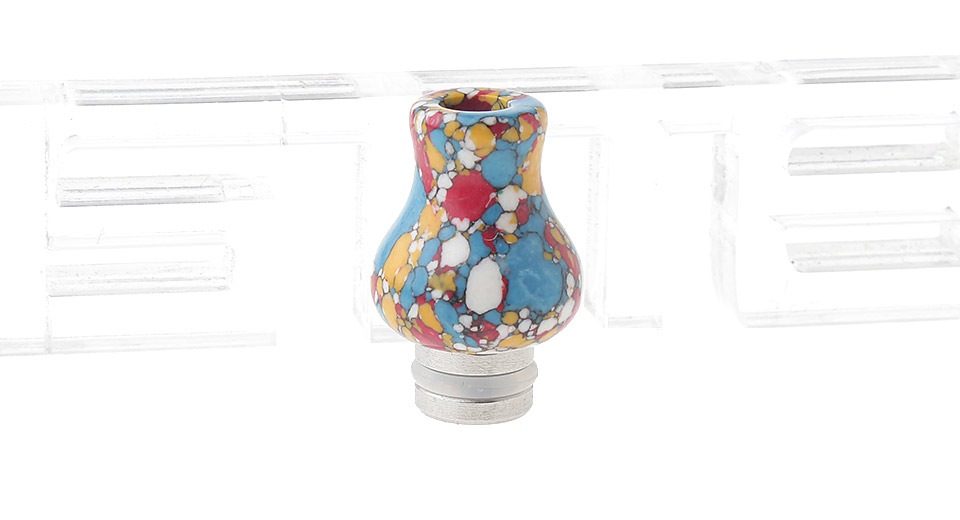 Turquoise + Stainless Steel Hybrid 510 Drip Tip