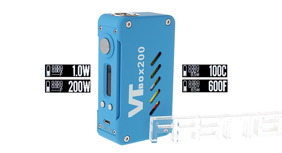 Authentic VapeCige VTBox200 1500mAh TC VW APV Mod