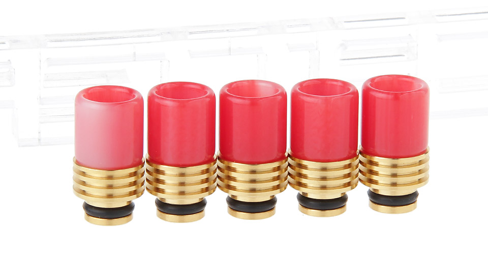 Resin 510 Drip Tip w/ Stainless Steel Base (5-Pack)