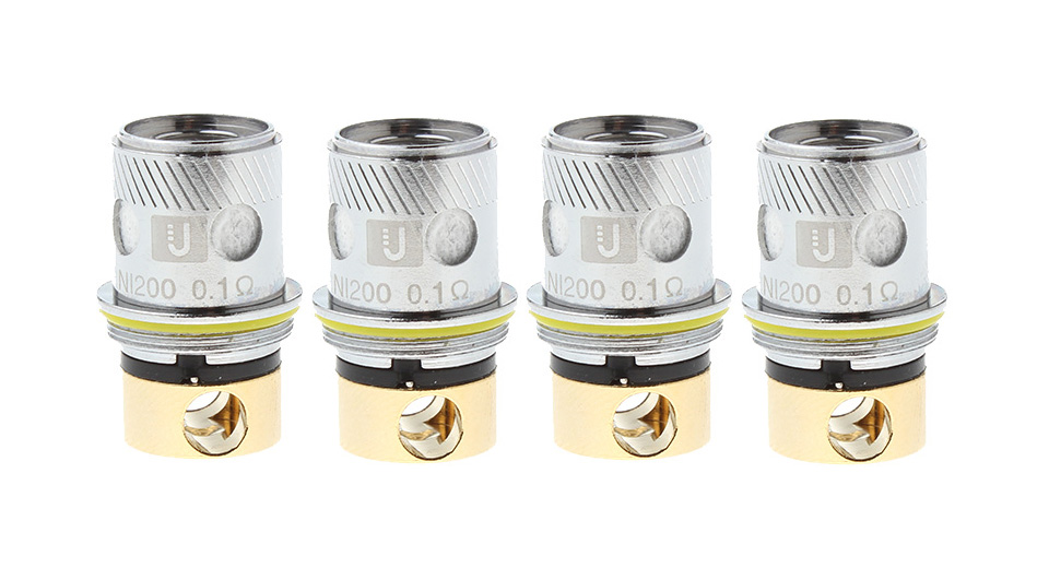Authentic Uwell Rafale Clearomizer Replacement Ni200 Coil Head (4-Pack)