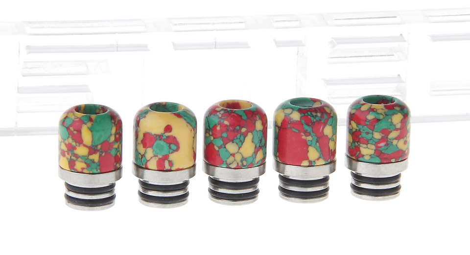Turquoise + Stainless Steel Hybrid 510 Drip Tip (5-Pack)