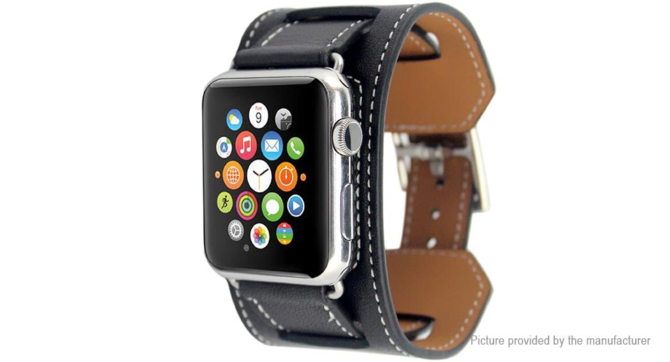Replacement Bracelet Styled Leather Watchband for Apple Watch 38mm